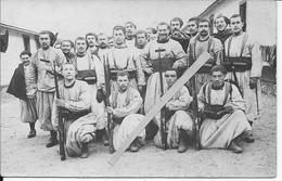 Groupe De Soldats Français Du 3ème Zouave Aux Manoeuvres Constantine Sathonay Tracy Le Val 1 Carte Photo 1914-1918 Ww1 - Guerre, Militaire