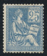 N°118, Mouchon 1900, 25c Bleu Type II, Neuf ** Sans Charnière - TB