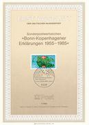 BRD / First Day Sheet (1985/07) 5300 Bonn 1: Bonn-Copenhagen Declarations 1955-1985 (painter: Ernst Jünger) - Geographie