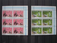 MAURITANIA 1988 Nr 605/606 BLOCS OF 6 / MNH ** / COT. 37.50 EUR / BUZIN BIRDS FAUNA - Collections, Lots & Séries