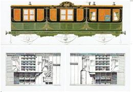 Bahnpostwagen Preussen 1859  - Bundespostmuseum (modern Card) - Eisenbahnen