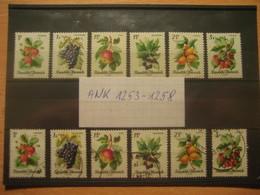 ÖSTERREICH 1966 - Satz Obstserie Postfrisch ANK 1253-1258 - 1918-1945 1. Republik