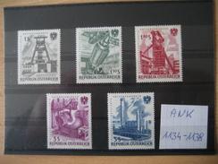 ÖSTERREICH 1961 - Satz Verstaatlichte Unternehmen Postfrisch ANK 1134-1138 - 1918-1945 1. Republik
