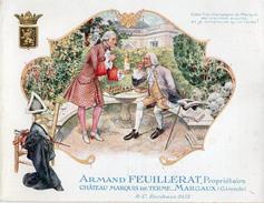 MARGAUX , Dépliant 2 Volets ,Publicité , Armand Feuillerat , Propriétaire Château Marquis De Terme - Alkohol