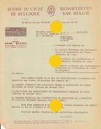 Bruxelles 1953 BOURSE DU CYCLE DE BELGIQUE  Vélo Vélos - Sports & Tourisme