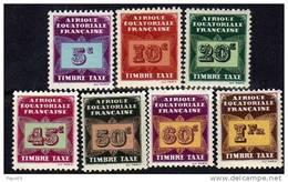 A. E. F.  Taxe  N° 1 / 11 XX  La Série Des 11 Valeurs Sans Charnière, TB - Unused Stamps