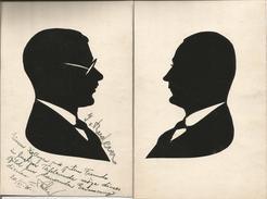 1931 - Scherenschnitt.2 Stk.9X13,5cm. Gute Zustand, 2 Scan - Silhouettes
