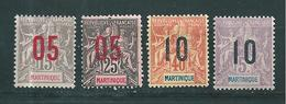 France Colonies Martinique Timbre De 1912  N°78 A 81 Neuf * - Martinica (1886-1947)