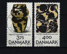 DÄNEMARK Mi-Nr. 1136 - 1137 150. Geburtstag Von Thorvald Bindesbøll Gestempelt - Dänemark
