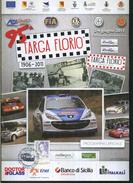 X 95 TARGA FLORIO - HISTORIC RALLY 2011 PROGRAMMA UFFICIALE CON TIMBRO FILATELICO UFFICIALE - Motori