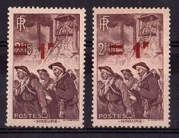 """1940 - Surcharge Décalée (""""2"""" Non Surchargé) - N° 489 - Neufs ** - Mineurs"""