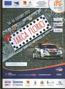 X 96 TARGA FLORIO IRC RALLY CHALLENGE 2012 PROGRAMMA UFFICIALE - Motori