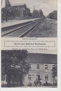 Gruss Vom Bahnhof Beuteresitz Sowie Gasthof Z, Deutschen Post - 1927    (170411) - Germany