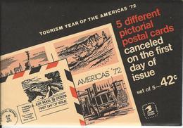 USA. Scott # UX61-63,UXC12-13 Mint Set Of 5 Postal Card. Turism 1972