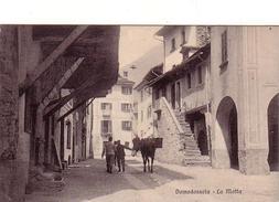 DOMODOSSOLA-VERBANO CUSIO OSSOLA-LA MOTTA-BELLA ANIMAZIONE-CARTOLINA ANNO 1915-1925 - Verbania