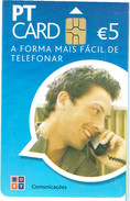 PHONECARDS-- PORTUGAL-CHIP-PT CARD 5€-ARE DIFFERENTS (CHIP , DATE, OR  ISSUE  ISSUE 200.000  01.08 - Portugal