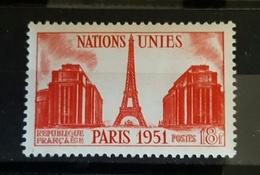 YT 911 - Nations Unis Paris 1951 Tour Eiffel - Neuf - Frankrijk