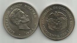 Colombia 50 Centavos 1964. UNC/AUNC KM#217 Simon Bolivar - Colombia