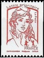 France Roulette N° 5018.** Marianne De Ciappa Et Kawena - Prioritaire (rouge) Jusqu'à 20 Gr. - Rollen