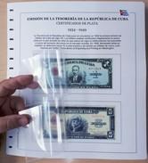 ALBUM DE BILLETES DE CUBA REPÚBLICA POR AÑOS 1905-1958. BANKNOTES. - Cuba