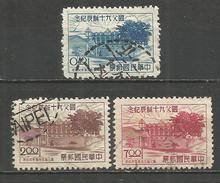 CHINA REPUBLICA YVERT NUM. 199/201 SERIE COMPLETA USADA - 1945-... República De China