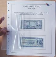 ALBUM DE BILLETES DE CUBA POR AÑOS 1905-2016. BANKNOTES. - Cuba