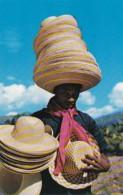 Haiti Port-au-Prince Native Hat Vendor St Marc Road