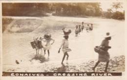 Haiti Gonaives Natives Crossing The River Photo