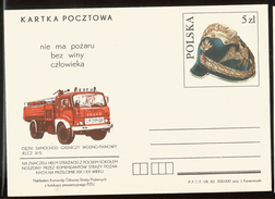 J) 1982 POLAND, FIREFIGHTER'S DAY, FIRE TRUCK, POSTAL STATIONARY - 1944-.... Republic