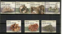 Minéraux Du Mexique (le Gypse,Amatista,Galène,Baryte,etc)  7 Timbres Neufs ** - Minerals