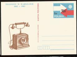 J) 1983 POLAND, WORLD TELECOMMUNICATIONS, PHONE, POSTAL STATIONARY - 1944-.... Republic