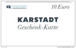 Germany - Karstadt - Cadooz 10 Euro  - Geschenkgutschein - Giftcard - Gift Card - Gutschein Card - RAR !! - Gift Cards