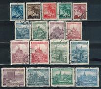 BÖHMEN & MÄHREN 1939 - MiNr: 20 36 17 Werte  Used - Böhmen Und Mähren