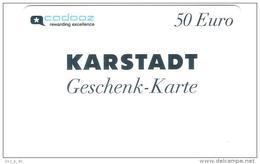 Germany - Karstadt - Cadooz 50 Euro  - Geschenkgutschein - Giftcard - Gift Card - Gutschein Card - RAR !! - Gift Cards