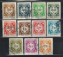 BÖHMEN & MÄHREN Dienst 1941 - MiNr: 1 - 12   11 Werte  Used - Böhmen Und Mähren