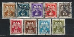 BÖHMEN & MÄHREN Dienst 1941 - MiNr: 13 - 24   9 Werte  Used - Böhmen Und Mähren