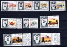 8905 Umm Al-Qaiwain Flugpost Mi 40-48A Mnh - Umm Al-Qiwain