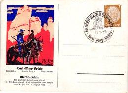 Deutsches Reich Ganzsache Karl May Spiele 1938 - Interi Postali