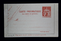 France Carte Lettre Pneu 1938 Type V1a   Papier Mince  6 Fr. - Pneumatiques