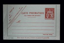 France Carte Lettre Pneu 1938 Type V4   Papier Mince  45 Fr. - Biglietto Postale