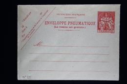 France  Enveloppe Pneu Chaplain  1,50 Fr . Type  O6 - Postwaardestukken