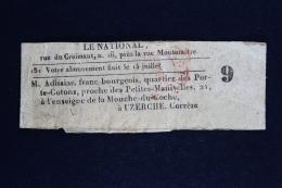 France  Bande Journal Le National  TB - Enteros Postales
