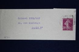 France  Bande Journal  Sameuse I8 Used  Date 737 - Enteros Postales