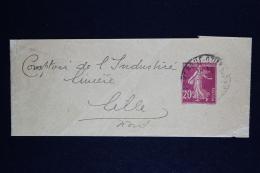 France  Bande Journal  Sameuse I8 Used  Date 740 - Enteros Postales