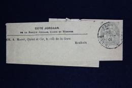 France  Bande Journal  Blanc   A8   Cote Jordaan - Striscie Per Giornali