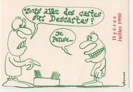 Illustrateur FILIPANDRE - Hyères Juillet 1990 Salon Carte Postale - 50 Ex - Illustrateurs & Photographes