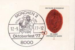 KN123     Germany 1977  München Pmk.Oktoberfest, Beer, Birra, Bière