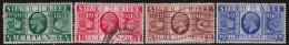 Great  Britain     .  Yvert   201/204   .      O      .        Cancelled     .     /    .    Gebruikt - 1902-1951 (Koningen)