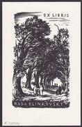 Ex Libris Ruda Klinkovsky (P Simon) - Ex-libris