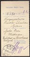 Switzerland Gais  28. 8. 1943 / Empfangschein - Zwitserland